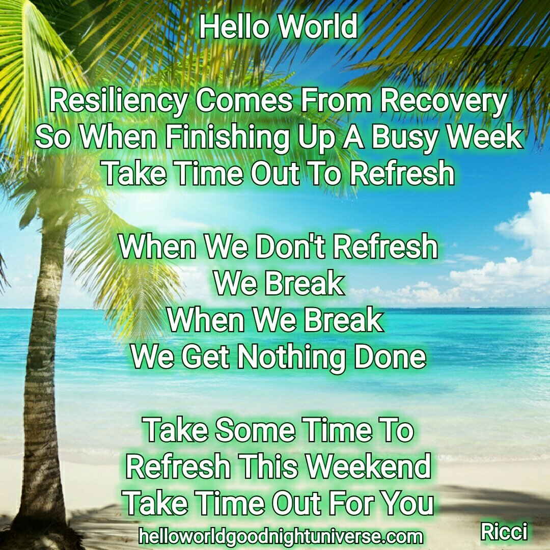 Resiliency Comes From Recovery
